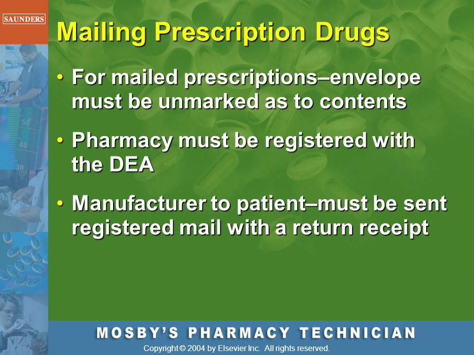 Mailing Prescription Drugs