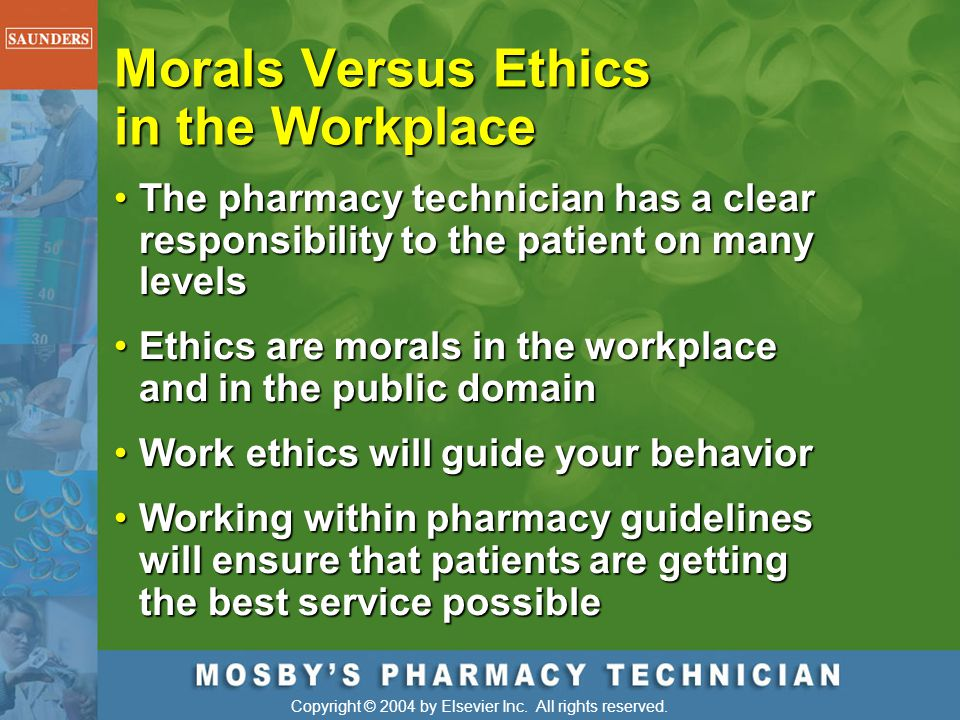 Morals Versus Ethics in the Workplace