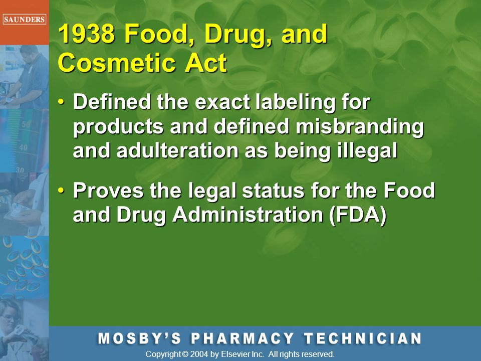 1938 Food, Drug, and Cosmetic Act