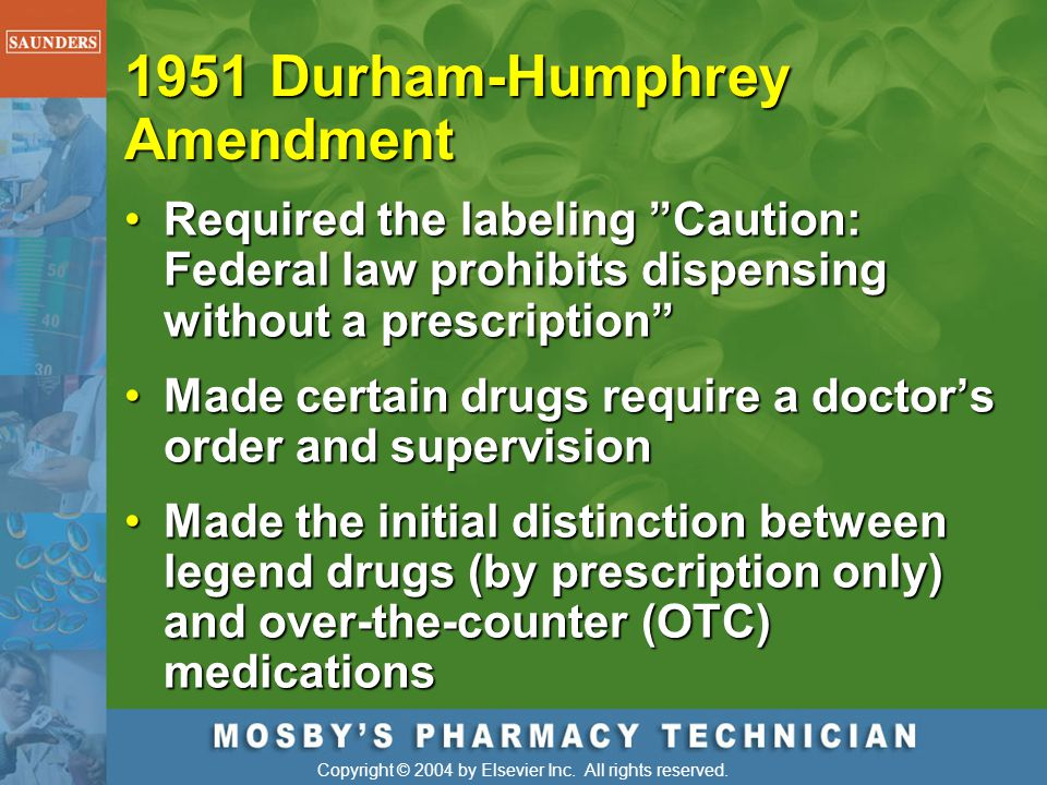1951 Durham-Humphrey Amendment