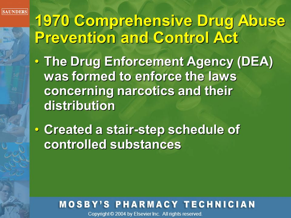1970 Comprehensive Drug Abuse Prevention and Control Act