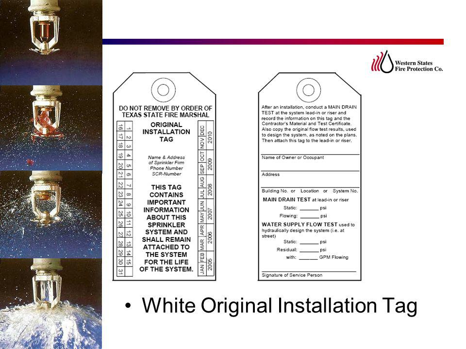White Original Installation Tag