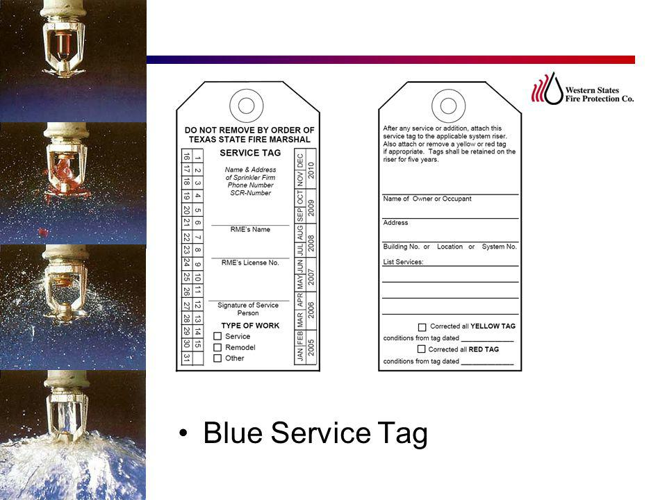 Blue Service Tag