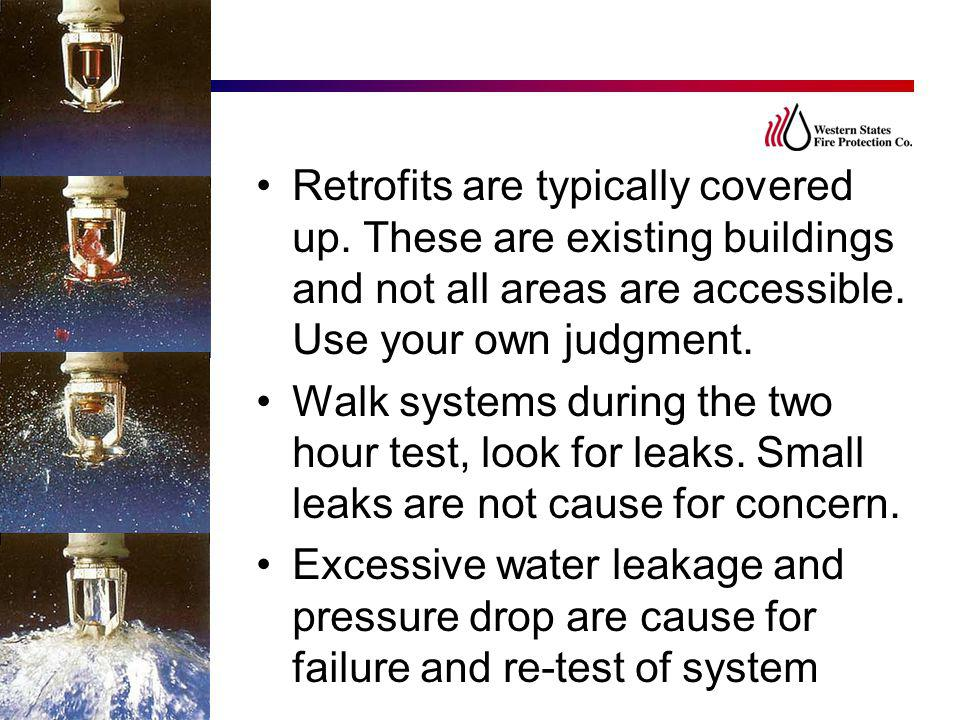 Retrofits are typically covered up