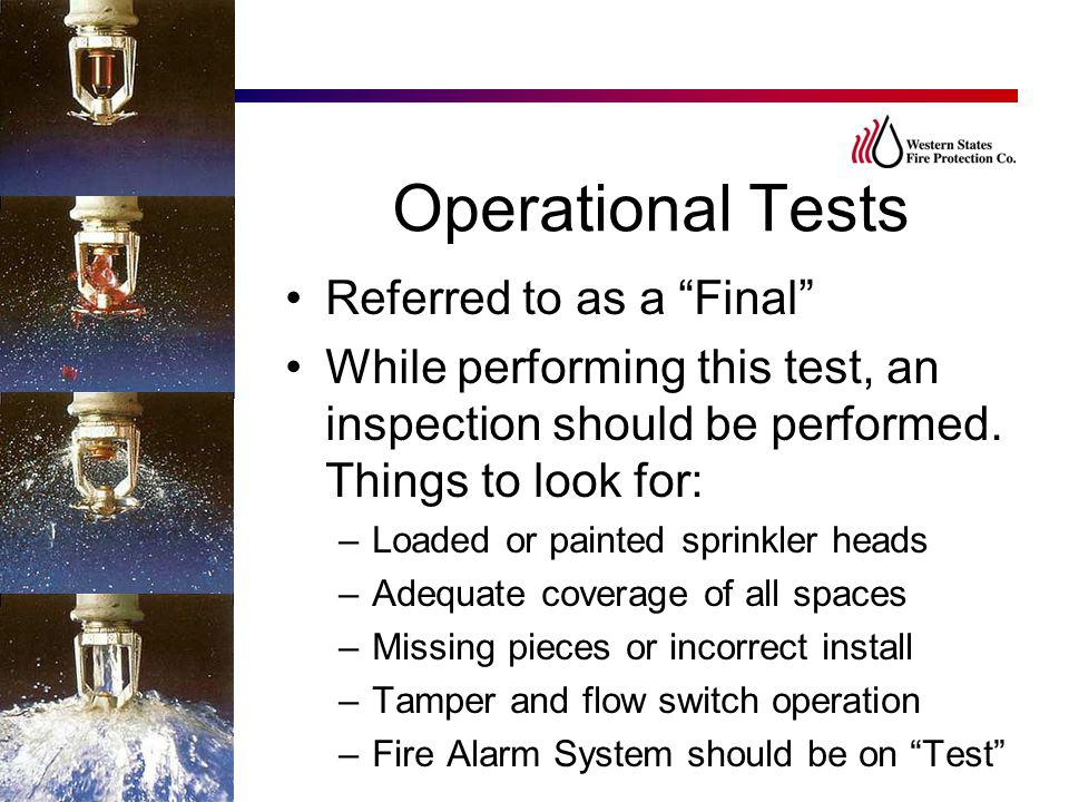Operational Tests Referred to as a Final