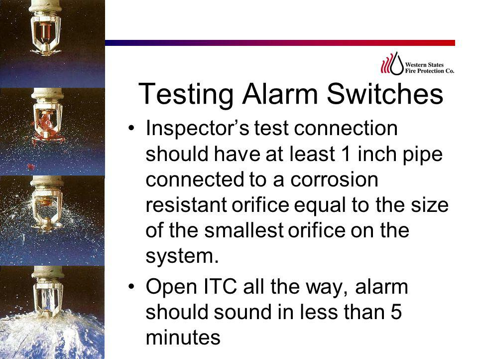 Testing Alarm Switches