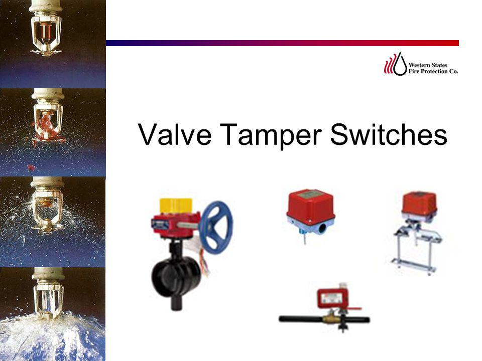 Valve Tamper Switches