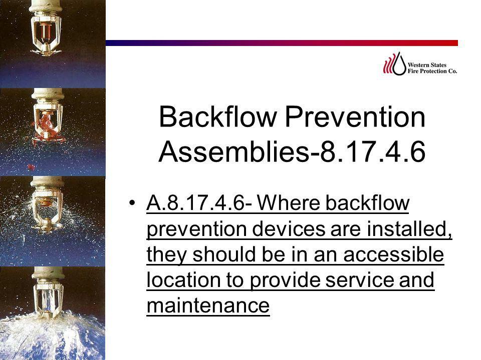 Backflow Prevention Assemblies-8.17.4.6