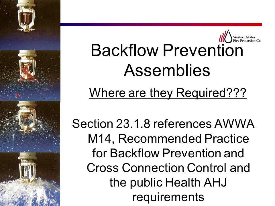 Backflow Prevention Assemblies