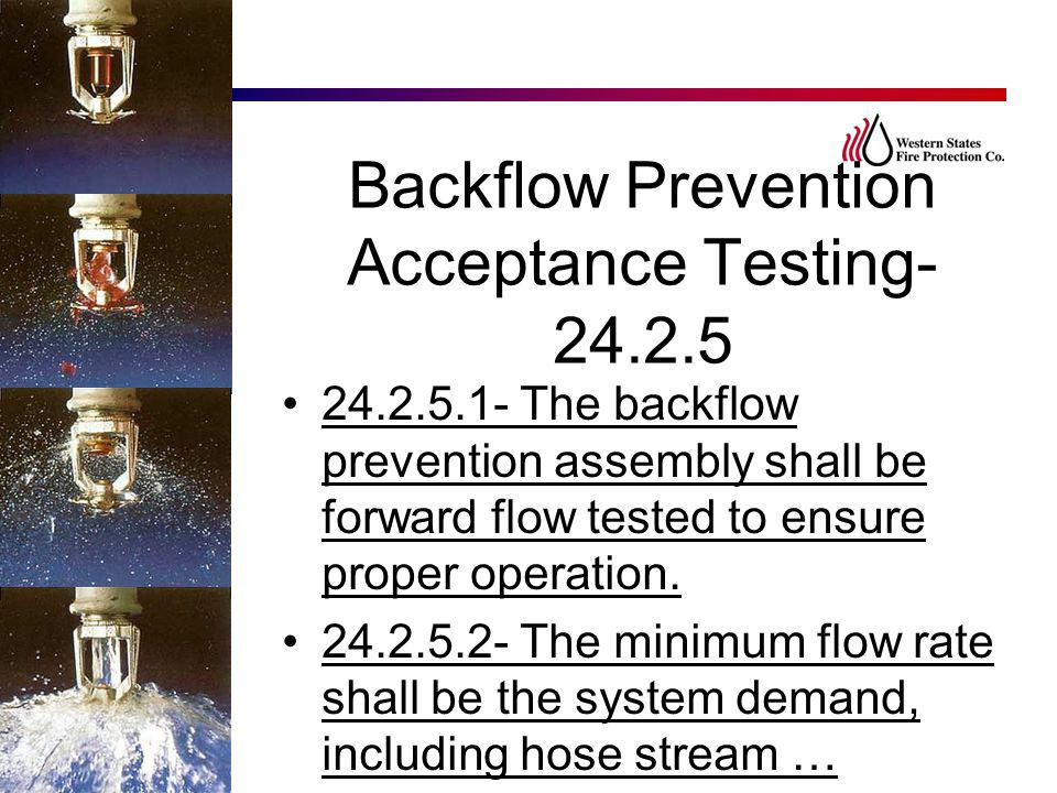 Backflow Prevention Acceptance Testing-24.2.5