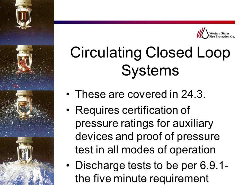 Circulating Closed Loop Systems