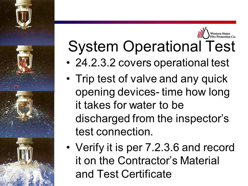 System Operational Test