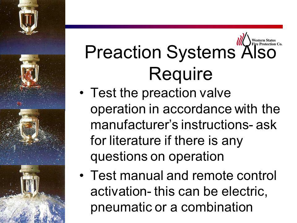 Preaction Systems Also Require