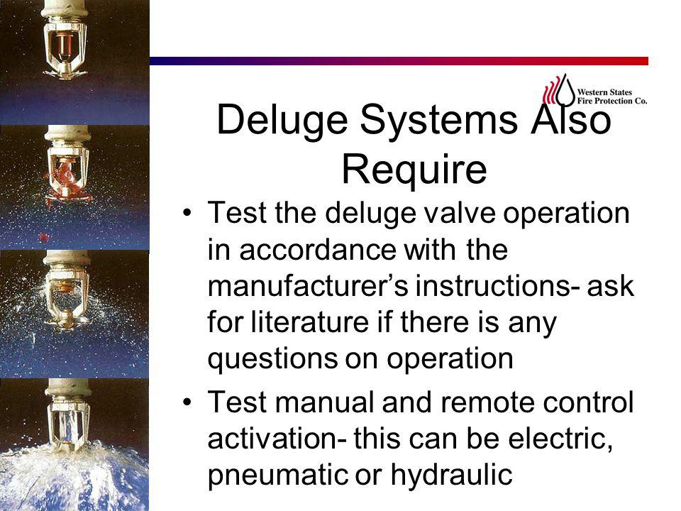 Deluge Systems Also Require