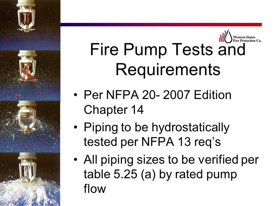 Fire Pump Tests and Requirements