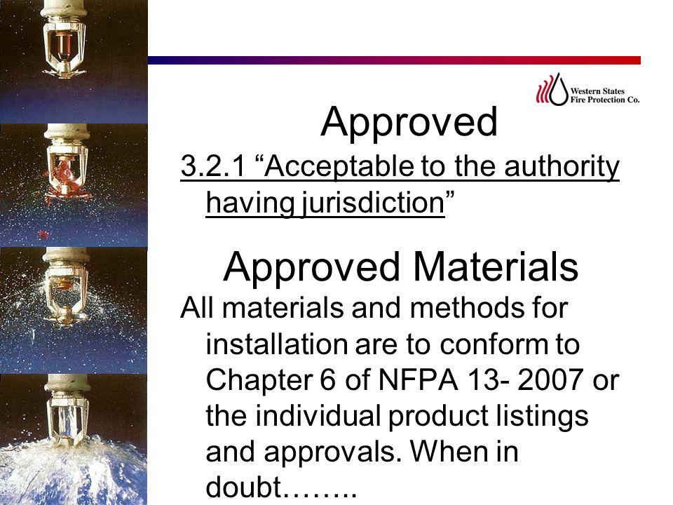 Approved Approved Materials