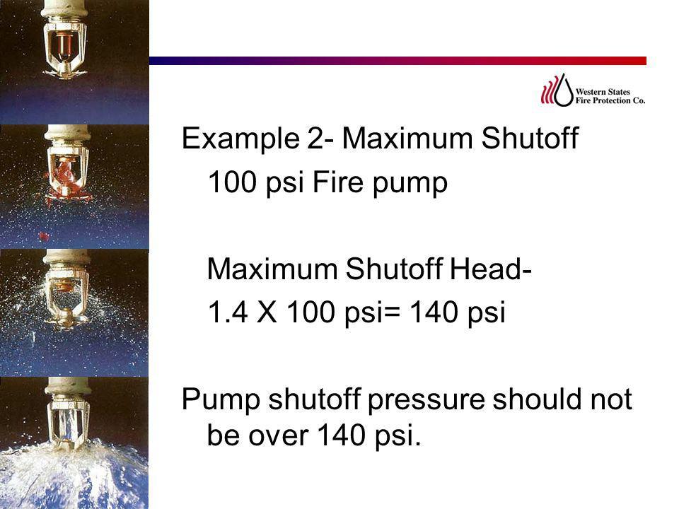 Example 2- Maximum Shutoff