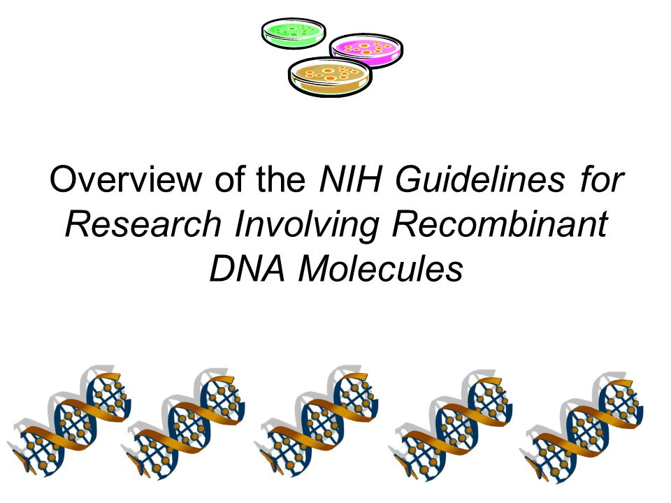 Overview of the NIH Guidelines for Research Involving Recombinant DNA Molecules