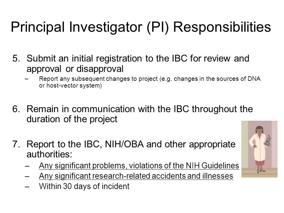 Principal Investigator (PI) Responsibilities