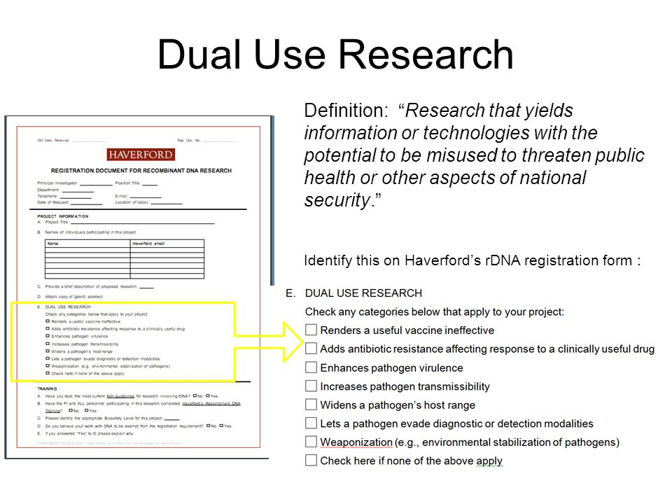 Dual Use Research