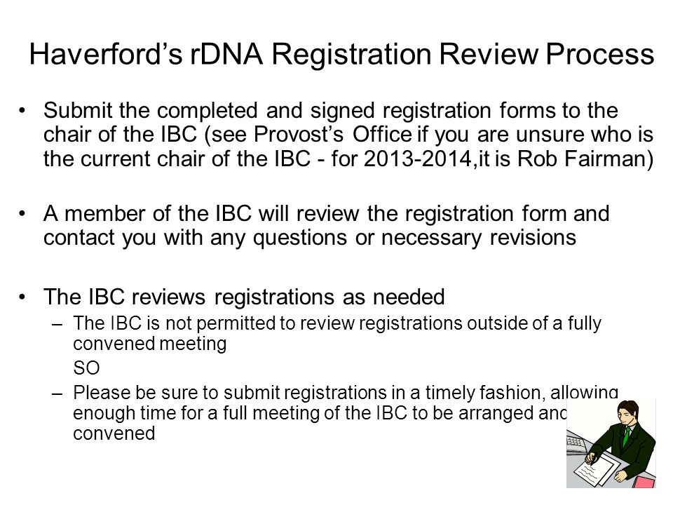 Haverford's rDNA Registration Review Process
