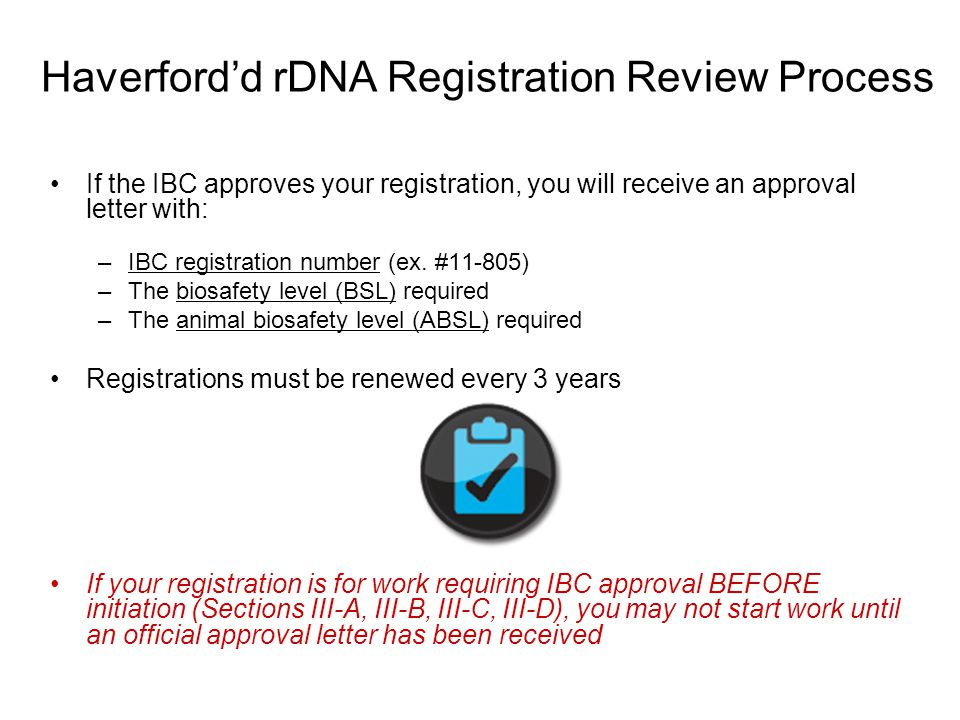 Haverford'd rDNA Registration Review Process