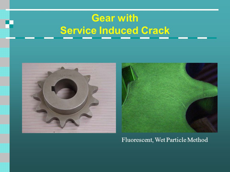 Gear with Service Induced Crack