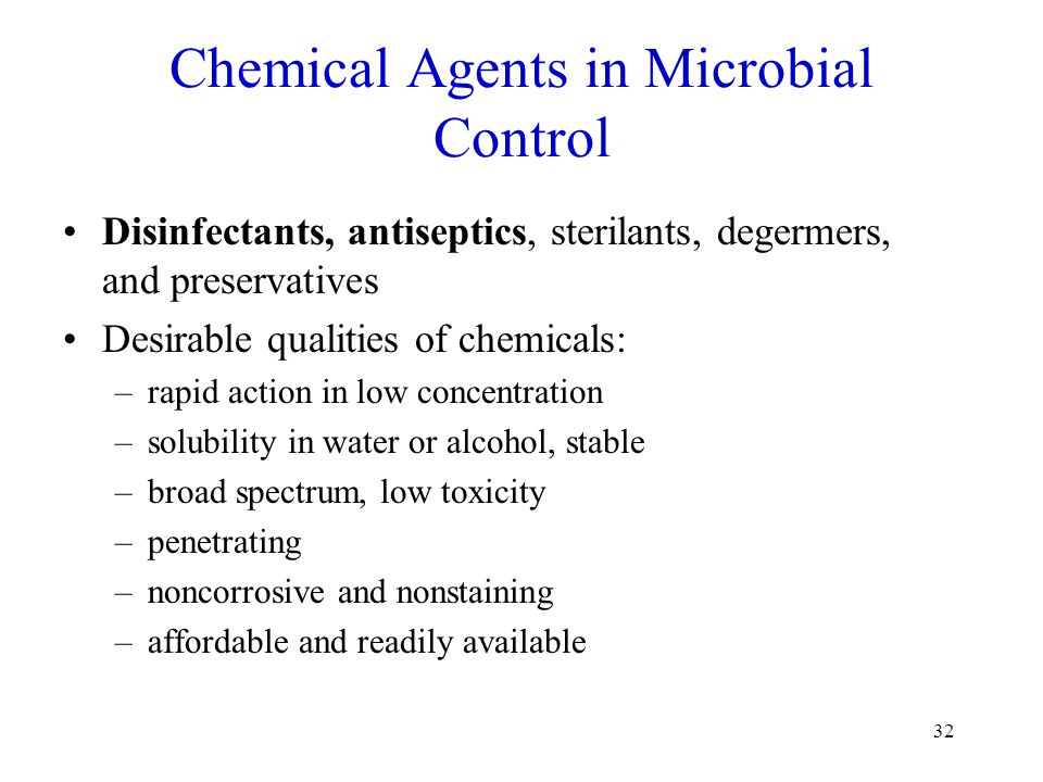 Chemical Agents in Microbial Control
