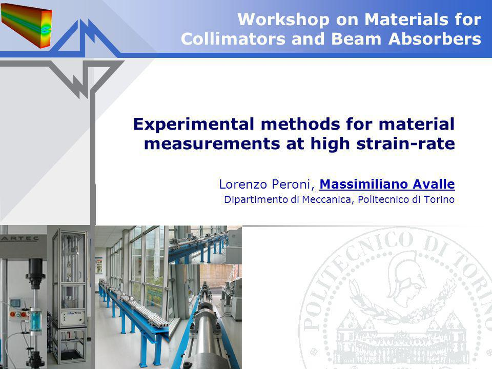 Experimental methods for material measurements at high strain-rate