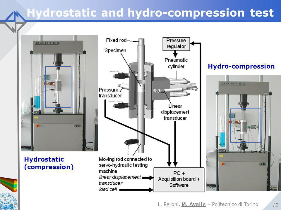 Hydrostatic and hydro-compression test