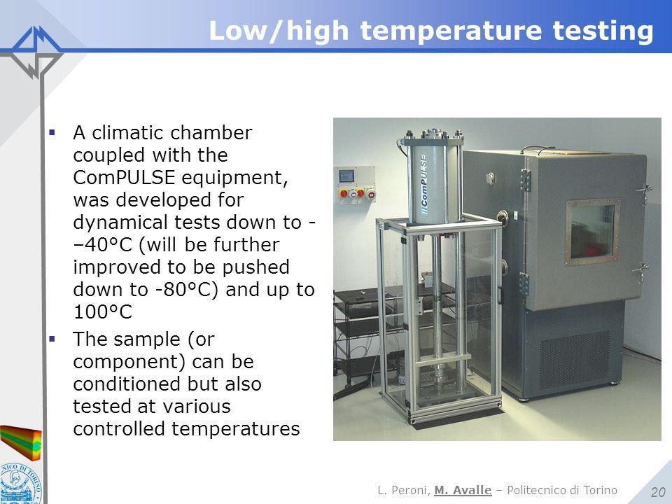 Low/high temperature testing