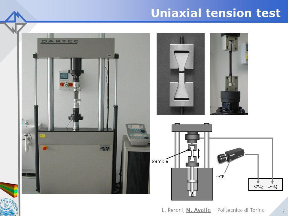 Uniaxial tension test