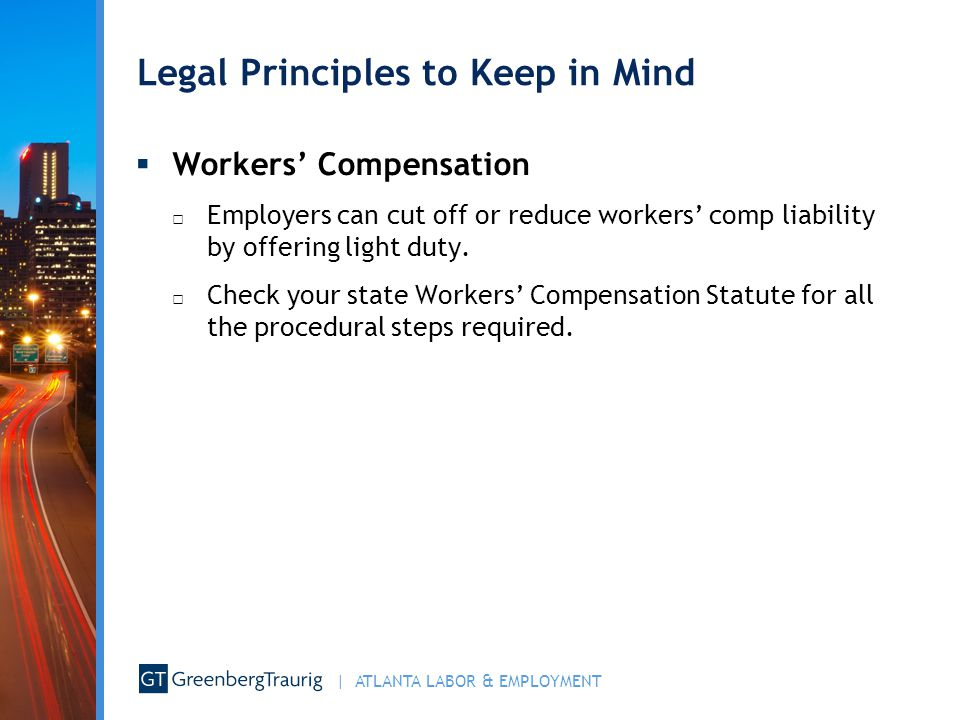 Legal Principles to Keep in Mind