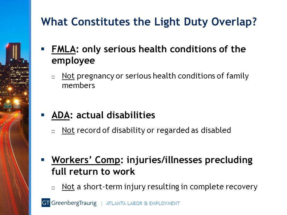 What Constitutes the Light Duty Overlap