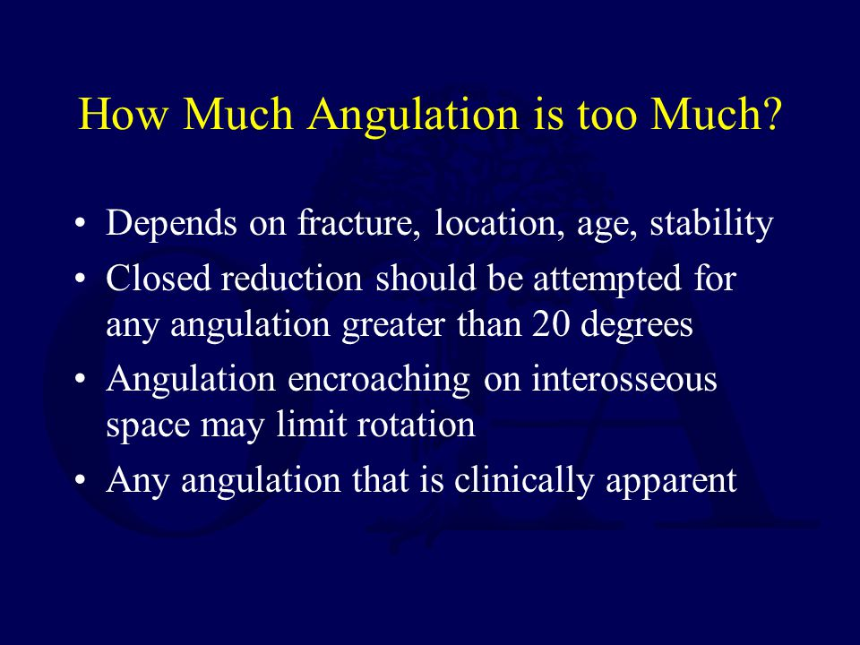 How Much Angulation is too Much