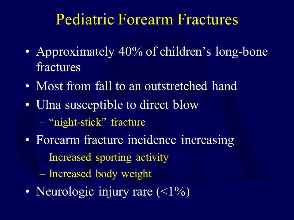 Pediatric Forearm Fractures