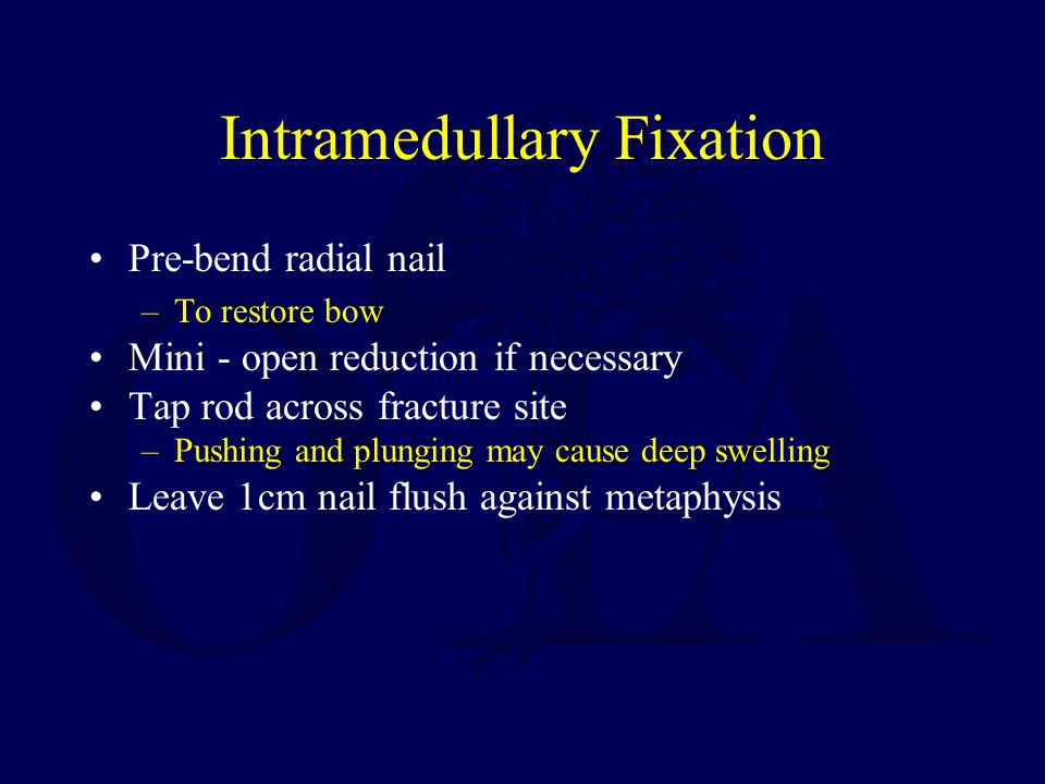 Intramedullary Fixation