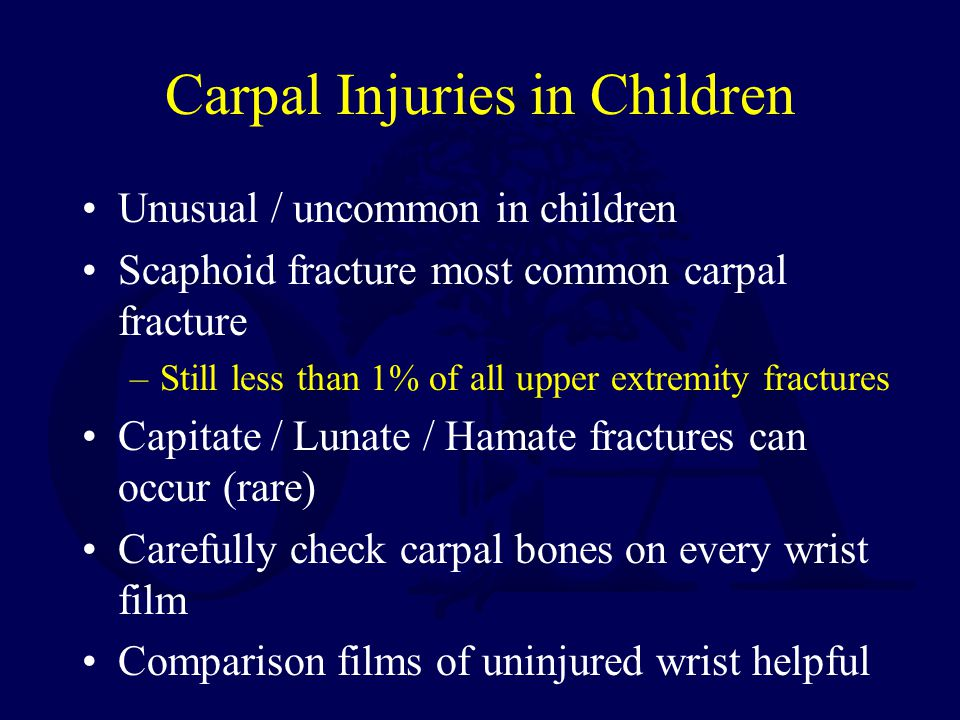 Carpal Injuries in Children