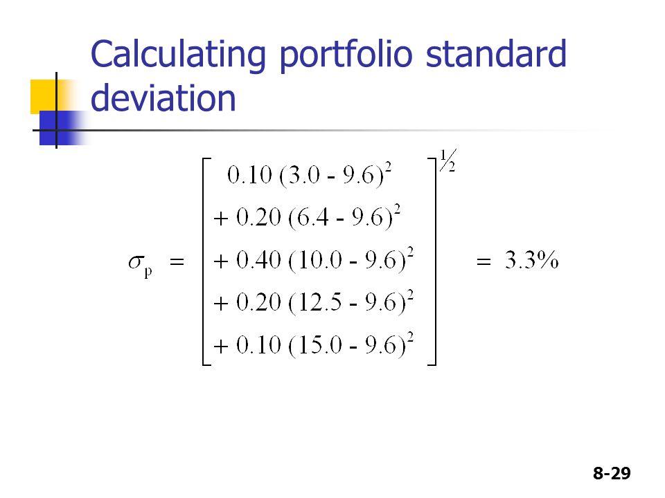 Calculating portfolio standard deviation