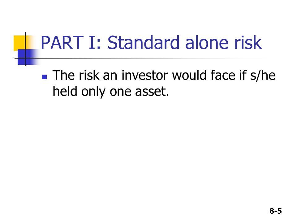 PART I: Standard alone risk