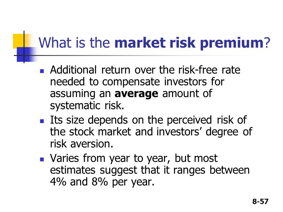 What is the market risk premium