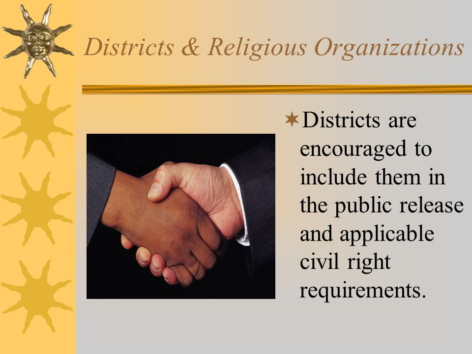 Districts & Religious Organizations