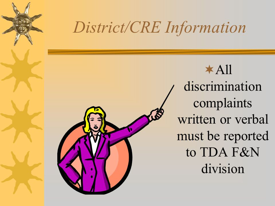 District/CRE Information