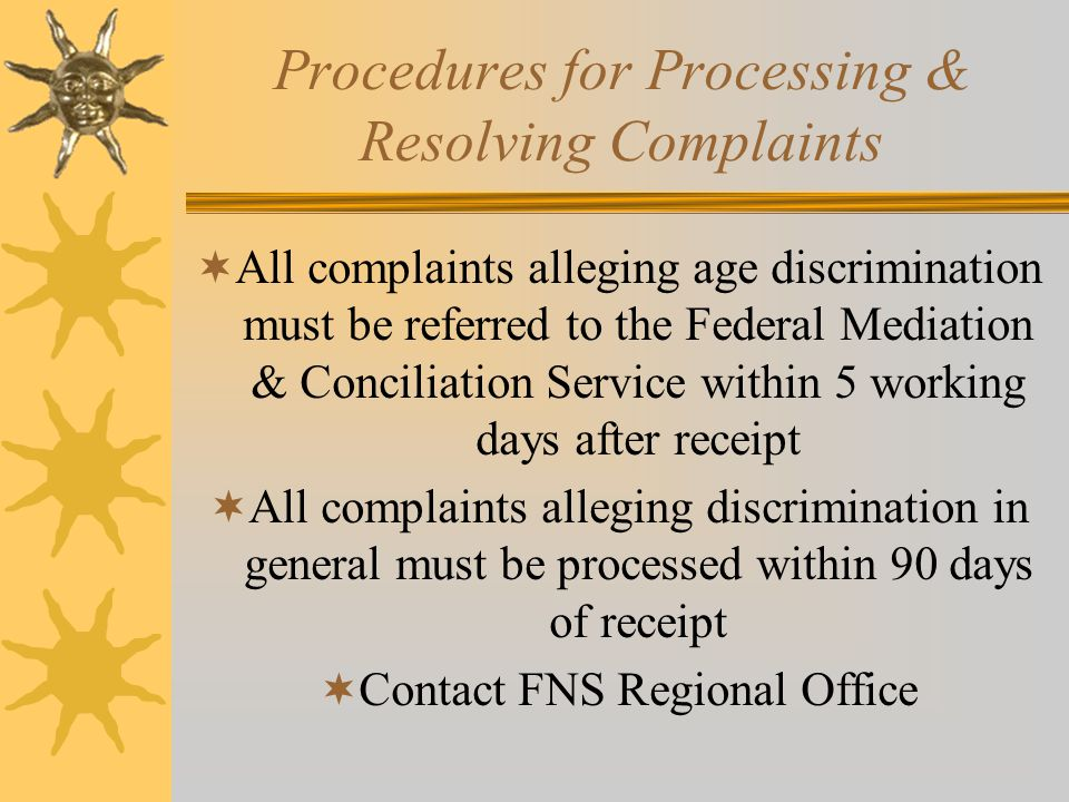 Procedures for Processing & Resolving Complaints