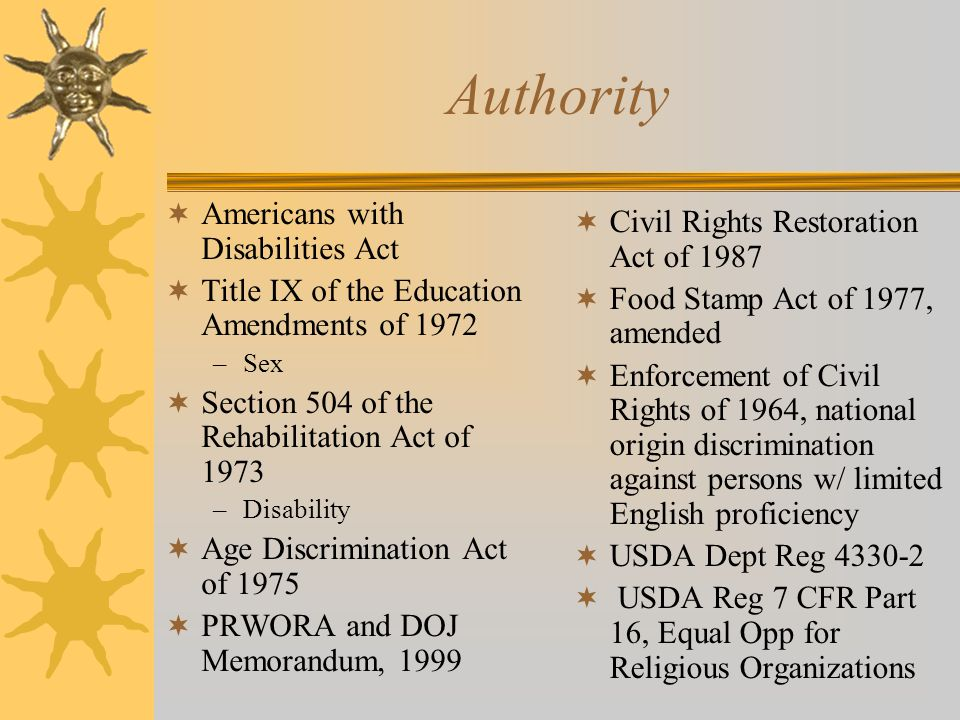 Authority Americans with Disabilities Act