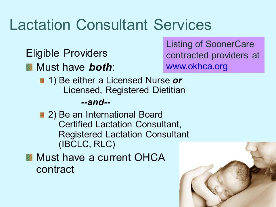 Lactation Consultant Services