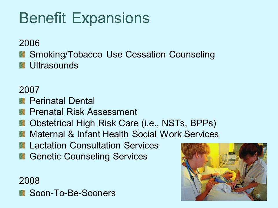 Benefit Expansions 2006 Smoking/Tobacco Use Cessation Counseling