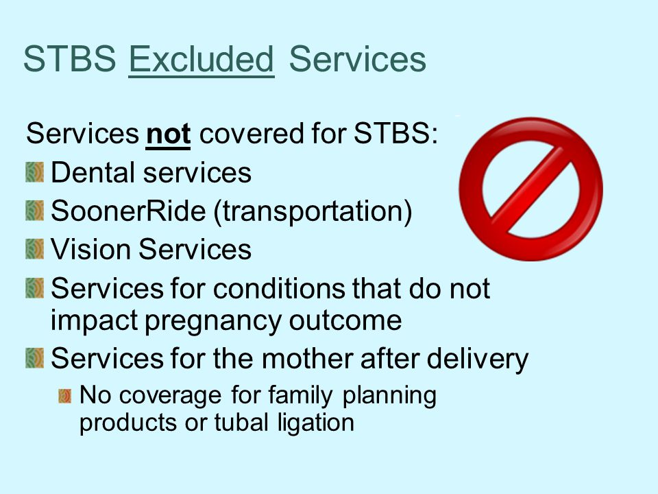 STBS Excluded Services