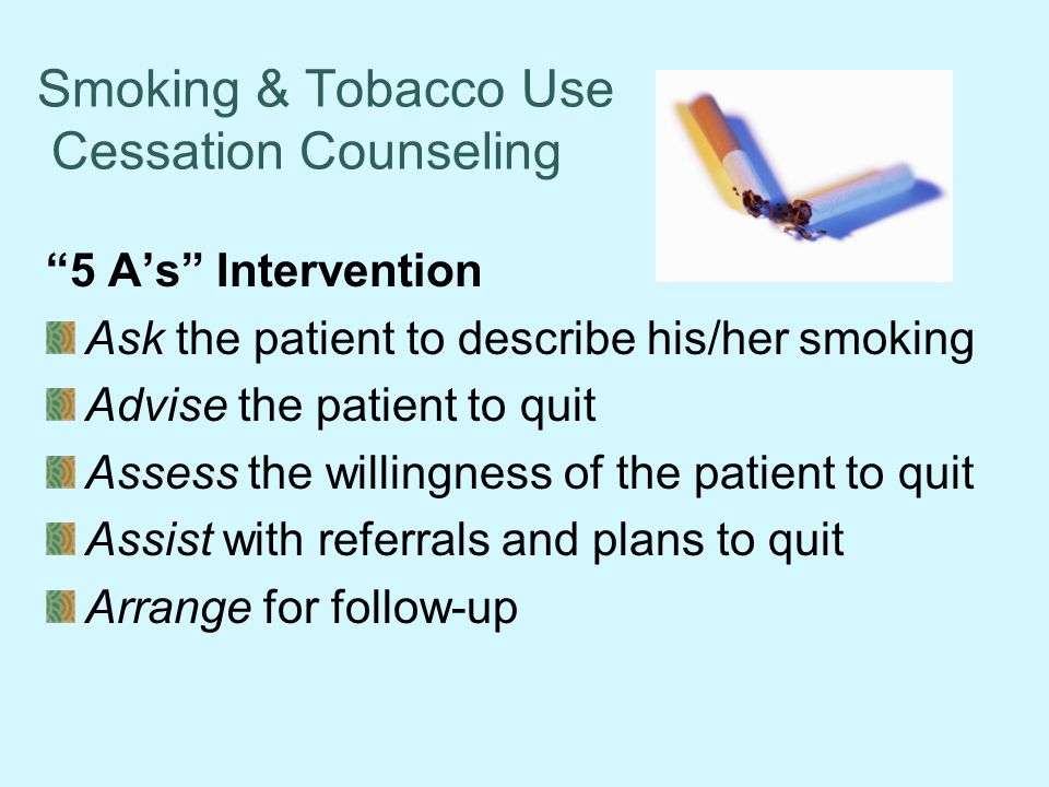 Smoking & Tobacco Use Cessation Counseling