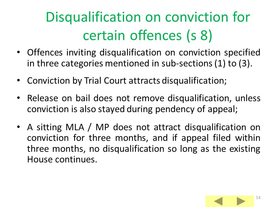 Disqualification on conviction for certain offences (s 8)